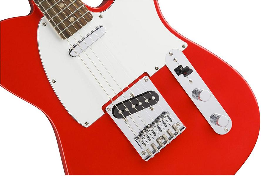 Squier by Fender Affinity Series Telecaster Beginner Electric Guitar front - Race Red