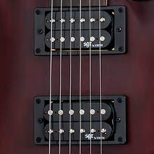 The Schecter C-1 SGR electric guitar pickups