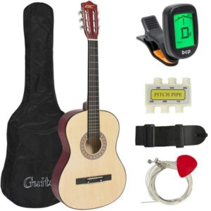 Best Choice Products 38in Beginner Acoustic Guitar Bundle Kit accessories