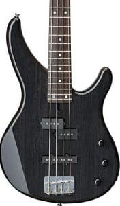 The Yamaha TRBX174EW 4 String electric Bass Guitar in black