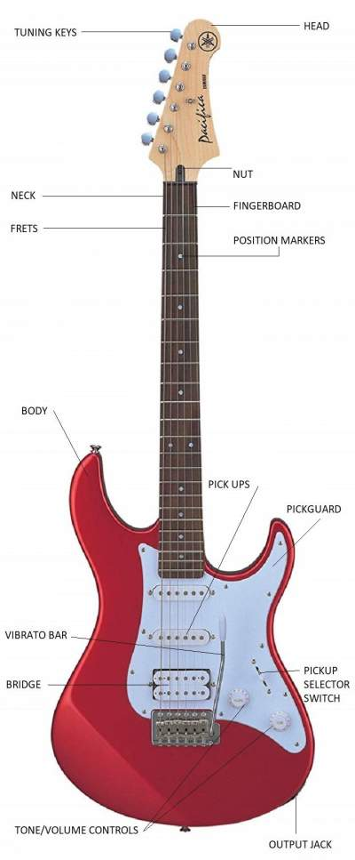 Names of The Parts of an Electric Guitar