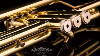 close up of glory trumpet valves