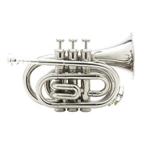 Mendini MPT-N Nickel Plated Bb Pocket Trumpet