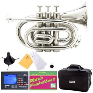 Mendini MPT-N Nickel Plated Bb Pocket Trumpet Accessories