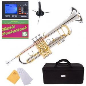 Mendini MTT-30CN Nickel Plated Intermediate Double-Braced Bb Trumpet Accessories