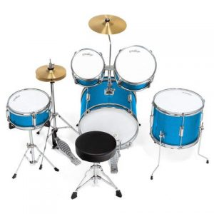 Ashthorpe 5-Piece Complete Kid's Junior Drum Set with Genuine Brass Cymbals drummers view