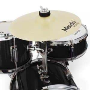 Cecilio Metallic Black 13 Inch 3-Piece Junior Drum Set