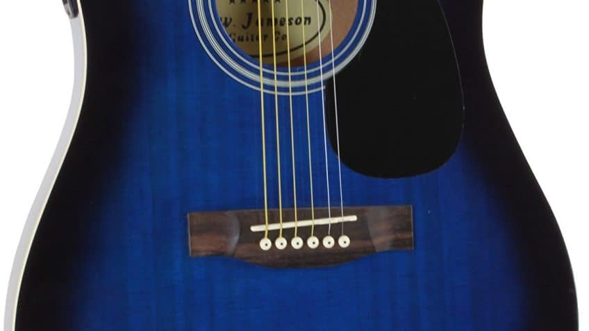 Jameson Guitars Full Size Thinline Acoustic Electric Guitar body