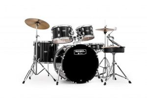 The Mapex RB5294FTCDK Rebel 5-Piece Drum Set