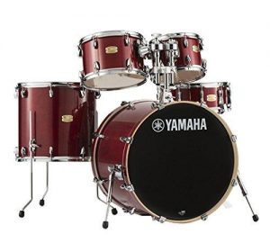 Yamaha Stage Custom Birch 5pc Drum Shell Pack cranberry red