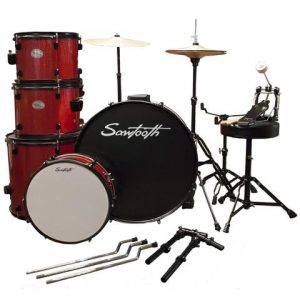 drum parts - Rise by Sawtooth Full Size beginners Drum Set with Hardware and Cymbals