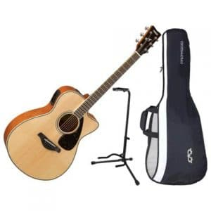 YAMAHA FSX820C CUTAWAY NATURAL SOLID SITKA TOP