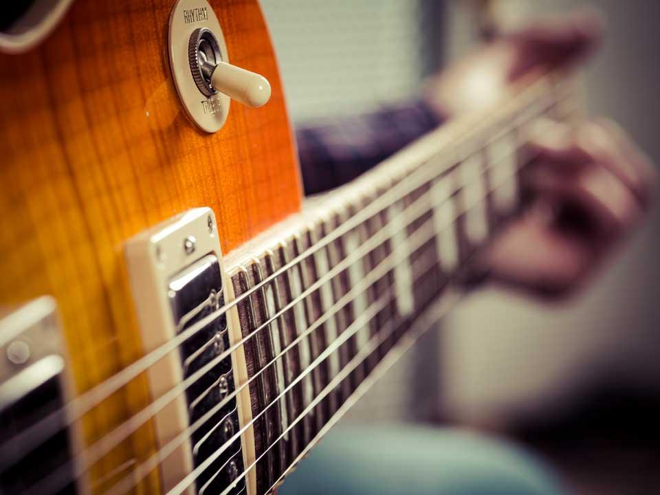 electric guitars - a beautiful guitar in sunburst color