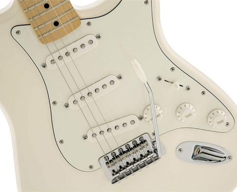 Fender Standard Stratocaster Electric Guitar - Maple Fingerboard, Arctic White